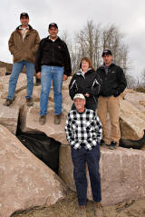 Moosonee Mayor and Councillors with Morsky rep and engineer at completion of shoreline stabilization project